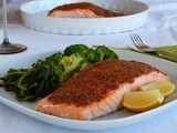 Salmon with Mustard and Grape Molasses