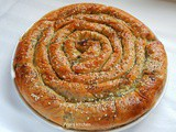 Spiral Spinach Pie with Skotyri Iou - Greek recipe