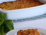 Zucchini pie with spearmint