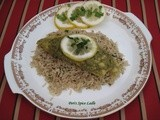 A Parsi Food Inspiration on the Grill: Coconut Chutney Tilapia on Cumin-Cilantro Brown Rice