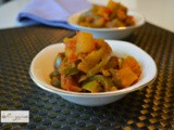 Capsicum (Green Bell Pepper) and Potato 'Subji'- An Indian Vegetable Preparation