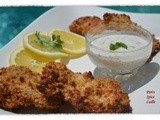 Crispy Parsi Chicken Farchas served with Mint-n-Mustard Yogurt Dip