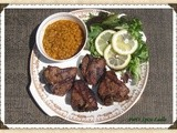 Grilled South Indian-style Lamb Chops Served with Yellow Daal