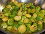 Pan-tossed Brussels Sprouts get a South Indian Flavor Kick