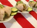 Involtini di pollo e zucchine e scamorza affumicata (cottura light) - Chicken, zucchini and scamorza cheese rolls (light cooking)