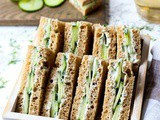 Cucumber Sandwiches With Tzatziki Sauce
