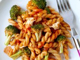Gemelli with Tomato Sauce and Broccoli