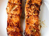 Ginger Garlic Air Fryer Salmon