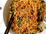 Pan Fried Noodles With Tangy Chili Crisp Sauce
