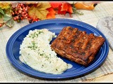 Bbq Pork Ribs with Creamy Garlic Mashed Potatoes
