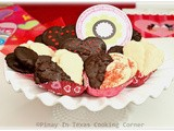 Chocolate Dipped Heart Shortbread Cookies