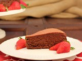Chocolate Mousse Cake from That Skinny Chick Can Bake