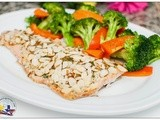 Easy Baked Salmon with Almonds and Onion Soup Mix