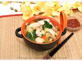 Mixed Seafood and Vegetable Noodle Soup