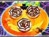 No-Bake Cheesecake Cups with Nutella Spiderweb Topping