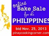Online Bake Sale for the Philippines is now open for bidding