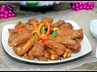 Stir Fried Pork Spare Ribs with Bell Pepper and Green Onions and Macy's