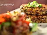 Balsamic Onions Quinoa Patties & Quinoa Salad