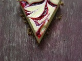 Raspberry Ripple Cheese Tart