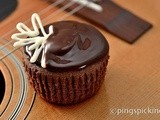 Tipsy Cranberry-Chocolate Cupcakes