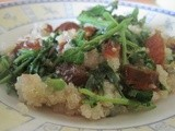 Gingered Quinoa with Dates & Watercress