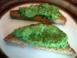 "Just in time for Halloween – ""Monster Mash"" – otherwise known as Green Pea Pesto"