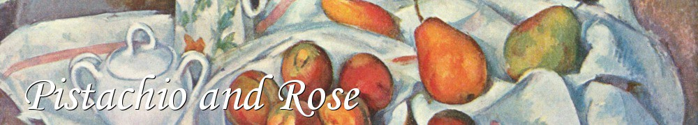 Very Good Recipes - Pistachio and Rose