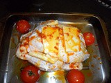 Roast chicken stuffed with Herby Cream Cheese