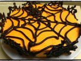 Halloween Themed Orange Cake