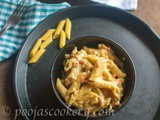 Quick Creamy White Pasta / Indian Style Pasta