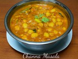 Channa Masala / Chole Masala (without Onion and Garlic) / Chick Peas Masala