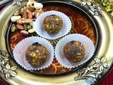 Dates and Nuts Ladoo / Dry fruits Ladoo - No Sugar Ladoo