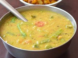 Green Chiili Sambar (without sambar powder) / Lady's finger Sambar / Vendakkai Sambar