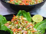 Green Gram Sprouts Salad / Moong Sprouts Salad
