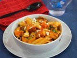 Mix Veg Paneer Pasta / Spicy Paneer Pasta - Indian style