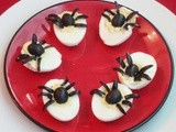 Spider Deviled Eggs / Spooky Deviled Eggs /  Deviled Eggs - Halloween Special