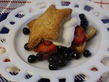 Brown Sugar Shortcakes with Brown Sugar Syrup, Mixed Berries, and Whipped Cream
