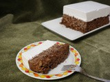 "Chocolate Rice Crispy ""Cake"" with Homemade Marshmallow ""Icing"""
