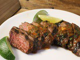 Grilled Skirt Steak with Adobo Butter