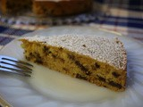Orange Buttermilk Picnic Cake with Chocolate Chips