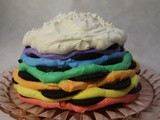 Rainbow Icebox Cake with Homemade Chocolate Cookies