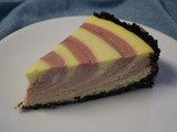 Raspberry Zebra Cheesecake