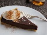 Simple Chocolate Whiskey Tart with Whiskey Whipped Cream