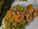 Two-Pepper Shrimp with Creamy Pecorino Grits