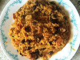 Yellow Rice With Beans and Salchicha