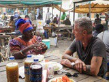 Photo of the Day: Ofeibea Quist-Arcton having breakfast with Anthony Bourdain in Senegal