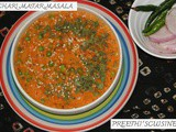 Achari matar masala/ green peas curry
