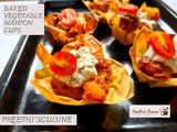Baked vegetable wanton cups