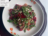 Boiled beets and barley salad