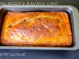 Bourbon biscuit & banana cake (eggless)